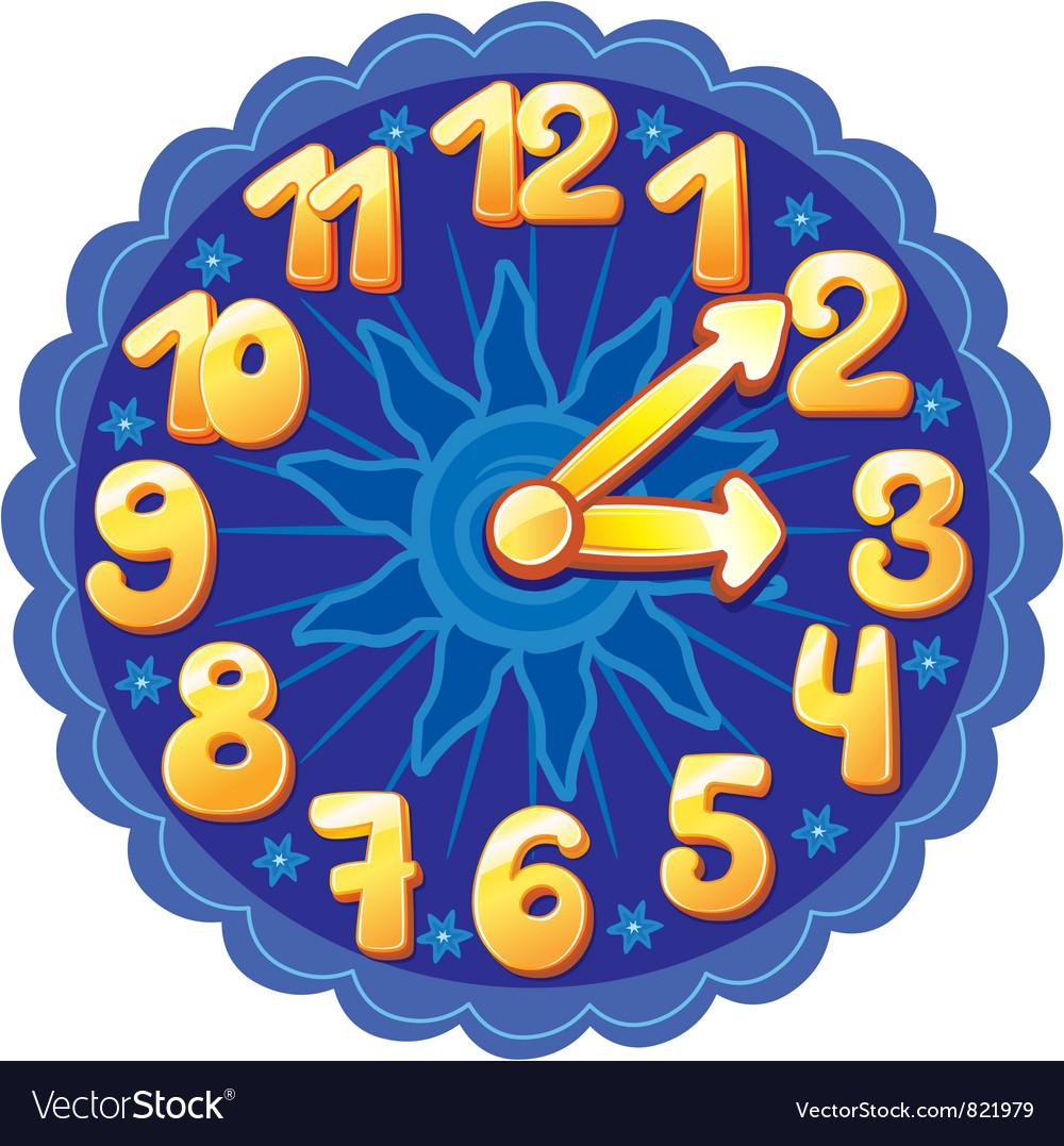 Funny cartoon clock for kids vector | Price: 1 Credit (USD $1)