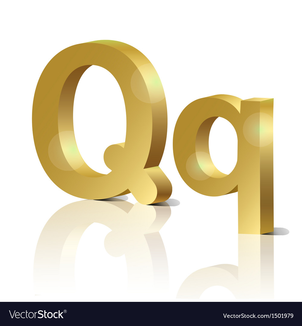 Golden letter q vector | Price: 1 Credit (USD $1)