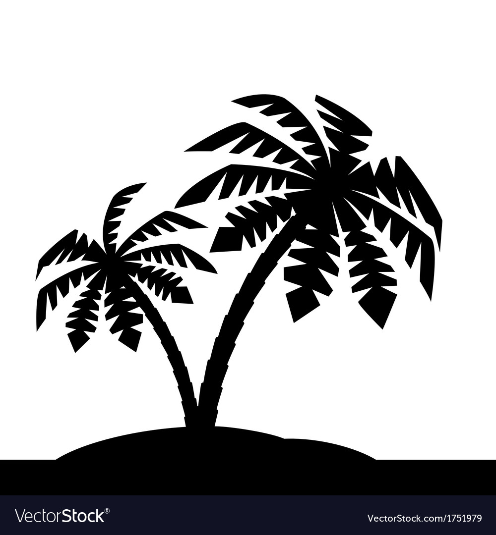 Island with palm trees vector | Price: 1 Credit (USD $1)