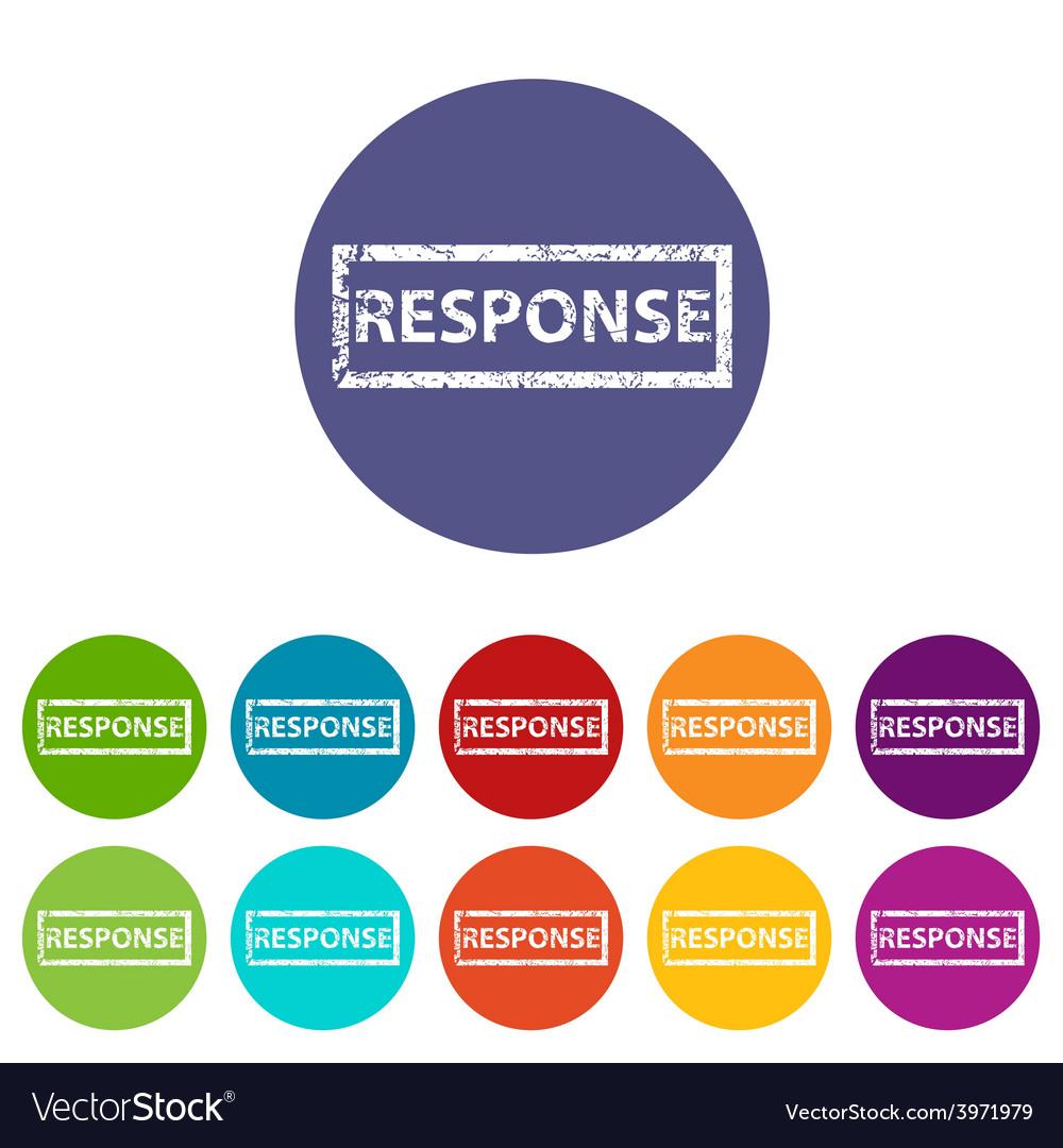 Response flat icon vector | Price: 1 Credit (USD $1)