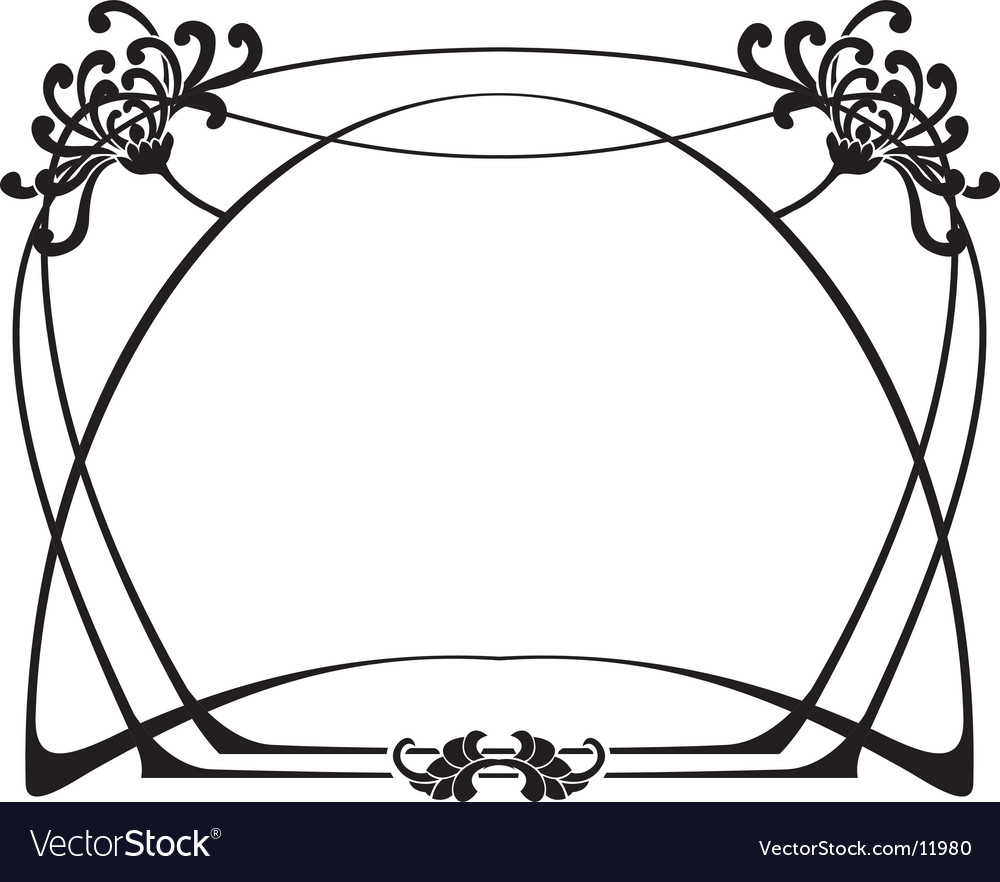 Art deco frame vector | Price: 1 Credit (USD $1)