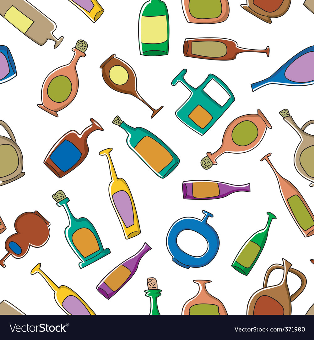 Bottles pattern vector | Price: 1 Credit (USD $1)