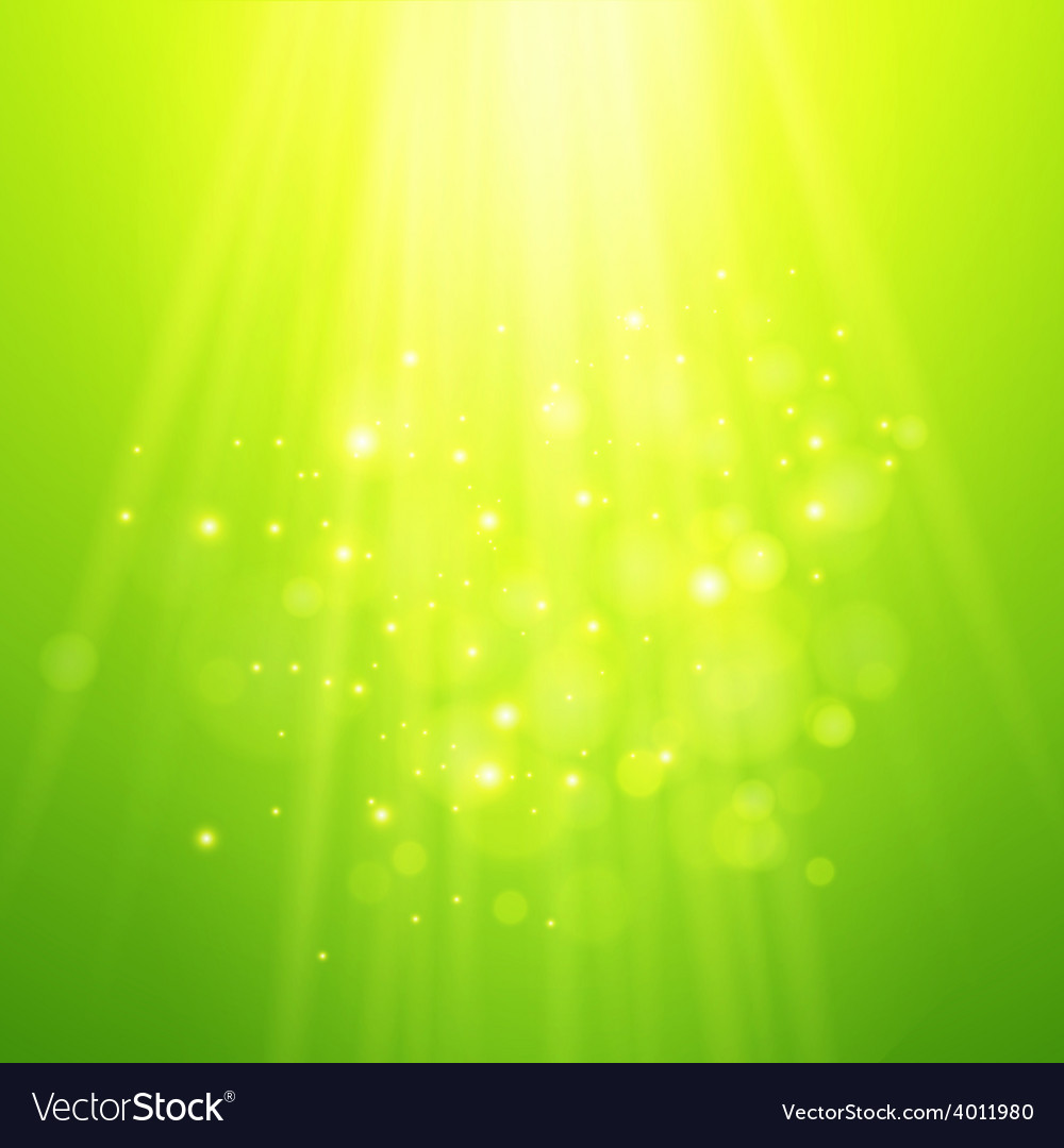 Green rays of light bokeh blurred vector | Price: 1 Credit (USD $1)