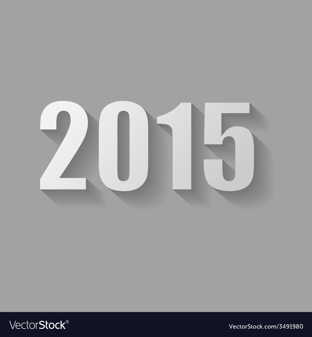 Grey 2015 new year card design vector | Price: 1 Credit (USD $1)