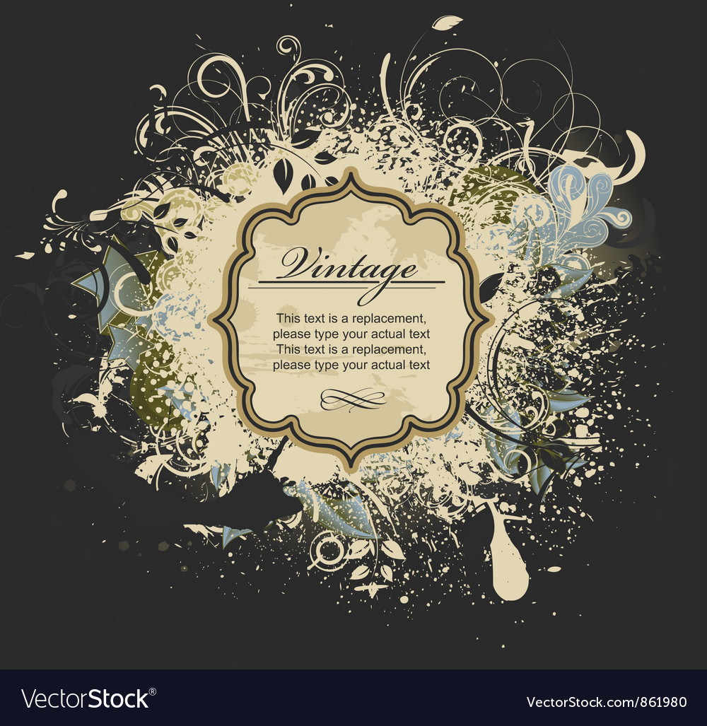 Grunge vintage label vector | Price: 1 Credit (USD $1)