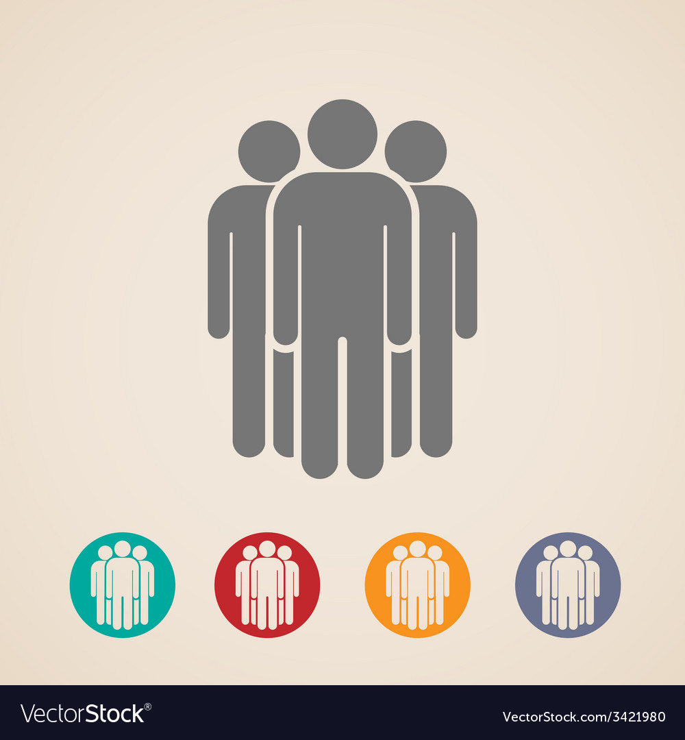 Icons of people group vector   Price: 1 Credit (USD $1)