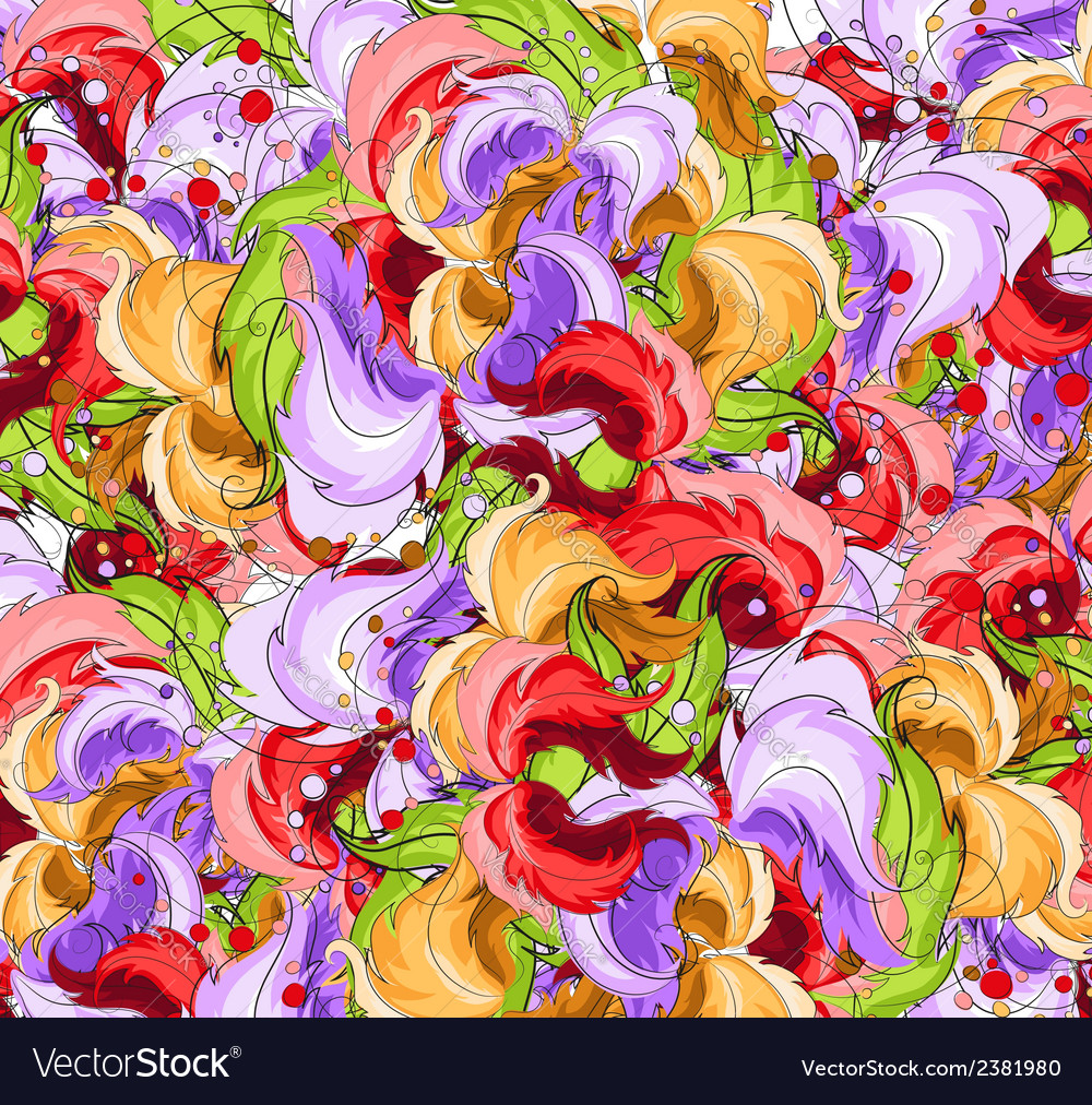 Multi colored flowers vector | Price: 1 Credit (USD $1)