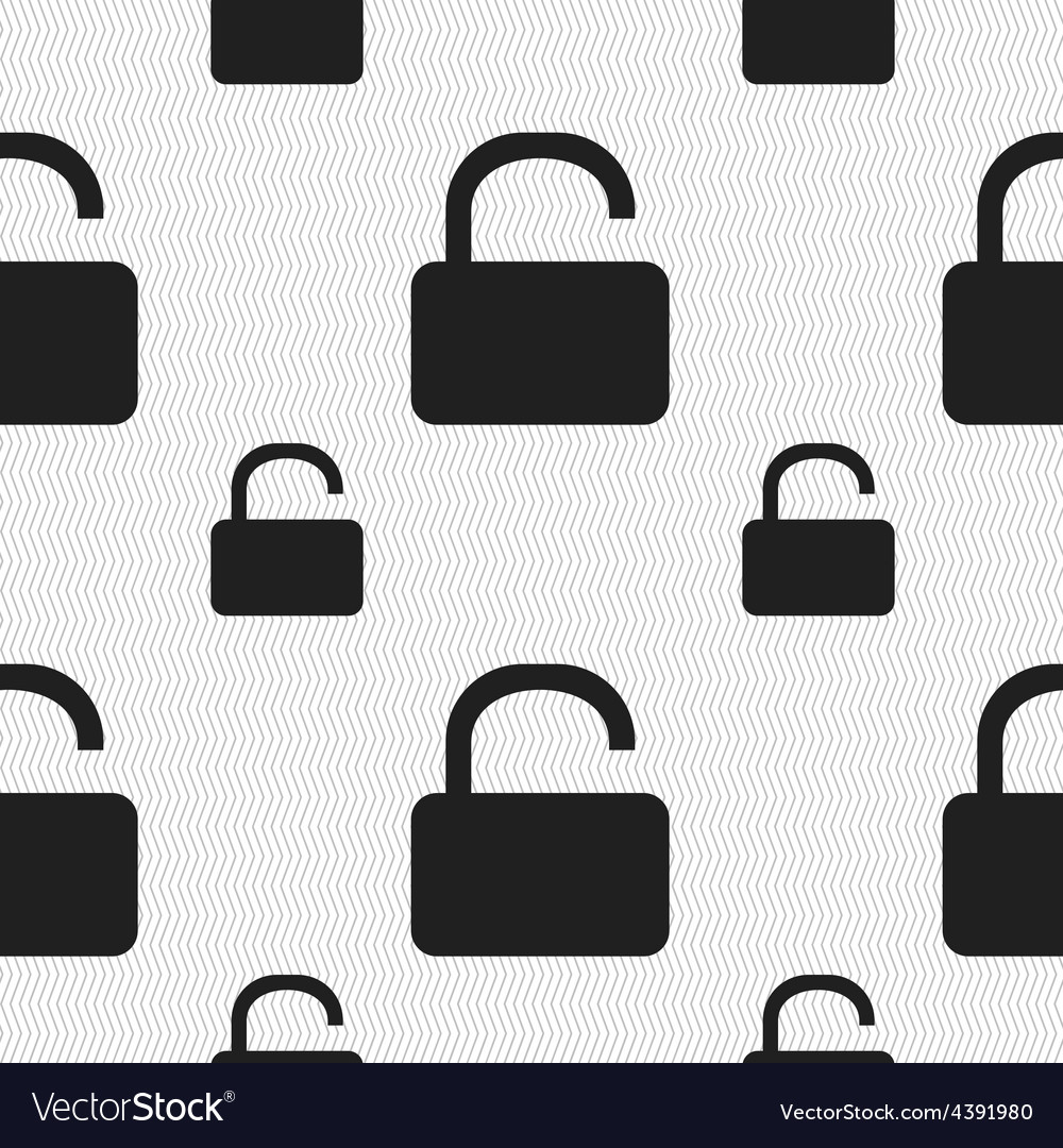 Open padlock icon sign seamless pattern with vector | Price: 1 Credit (USD $1)