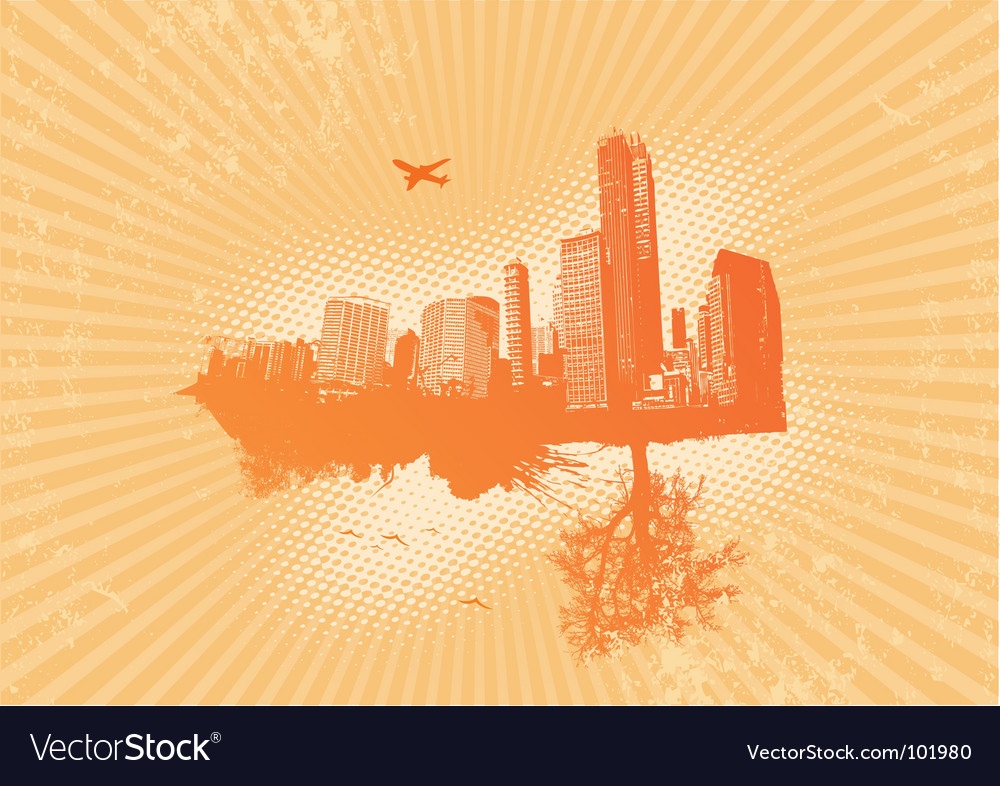 Retro city vector | Price: 1 Credit (USD $1)