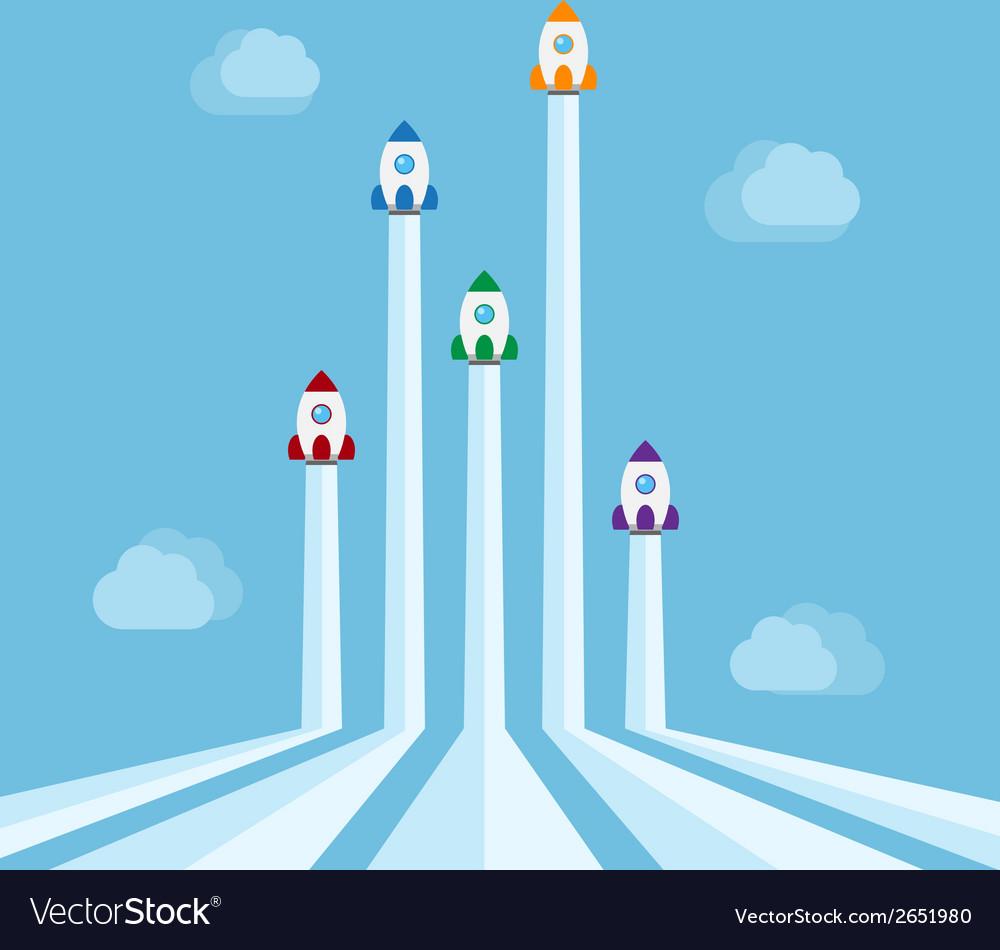 Rockets vector | Price: 1 Credit (USD $1)