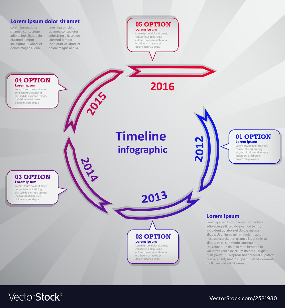 Timeline infographic with arrow and cloud vector | Price: 1 Credit (USD $1)