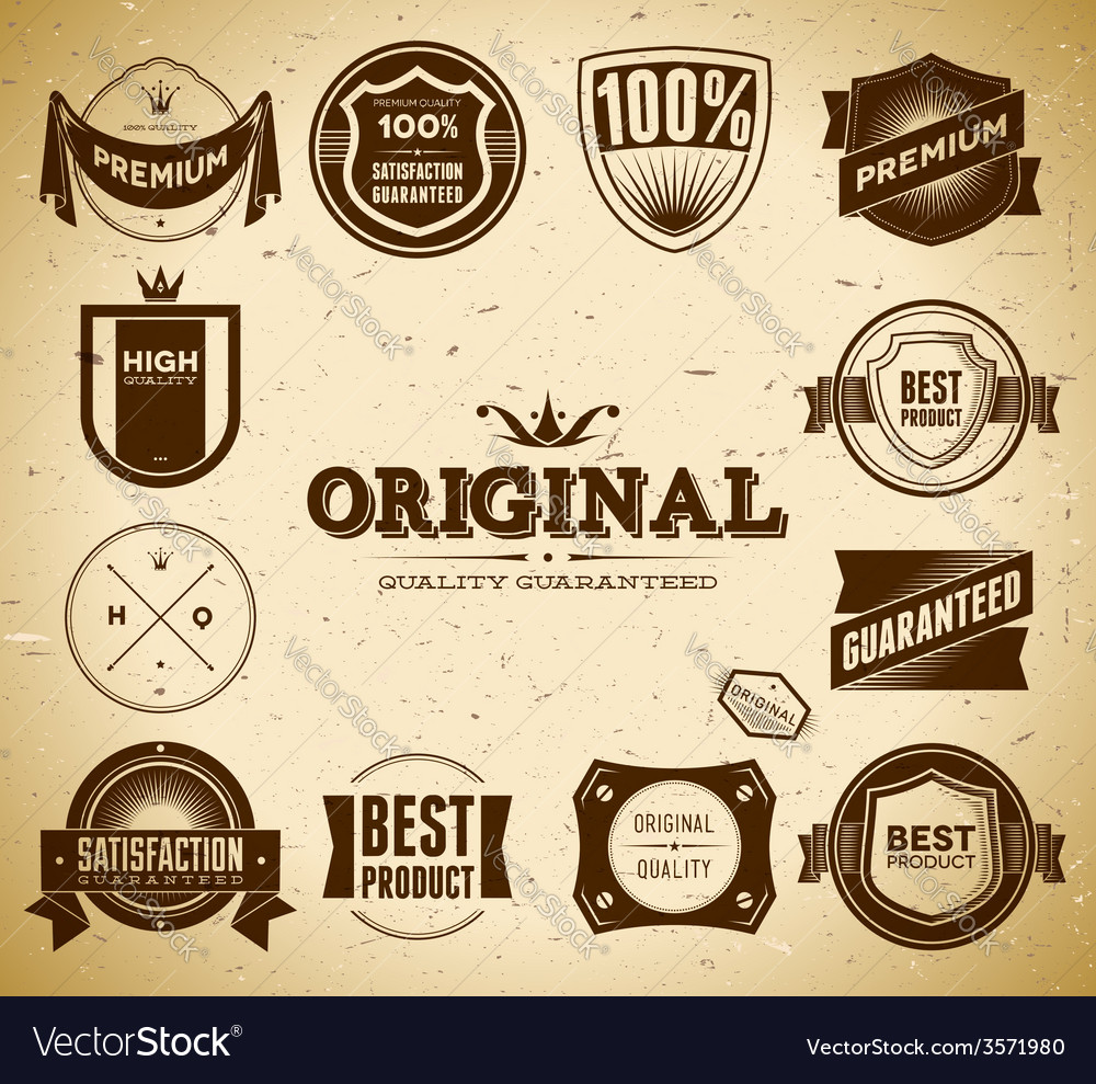 Vintage labels collection 2 vector | Price: 1 Credit (USD $1)