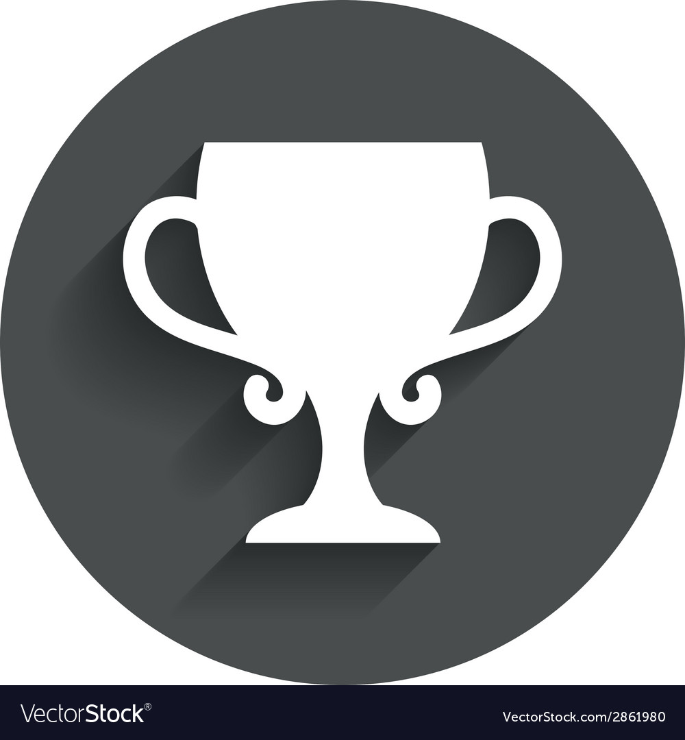 Winner cup sign icon awarding of winners vector   Price: 1 Credit (USD $1)