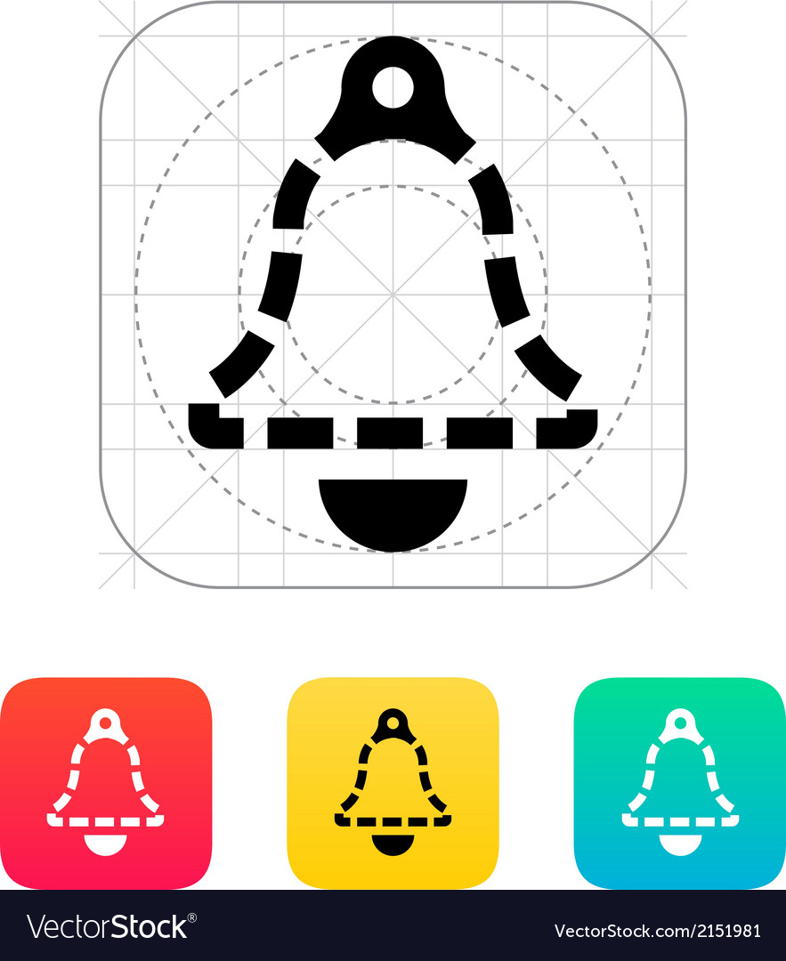 Absence ringing bell icon vector | Price: 1 Credit (USD $1)