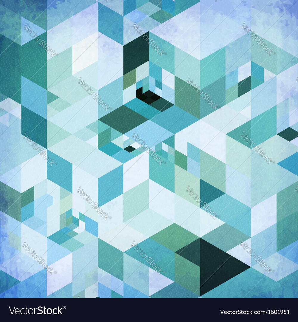 Abstract geometry blue grunge background vector   Price: 1 Credit (USD $1)