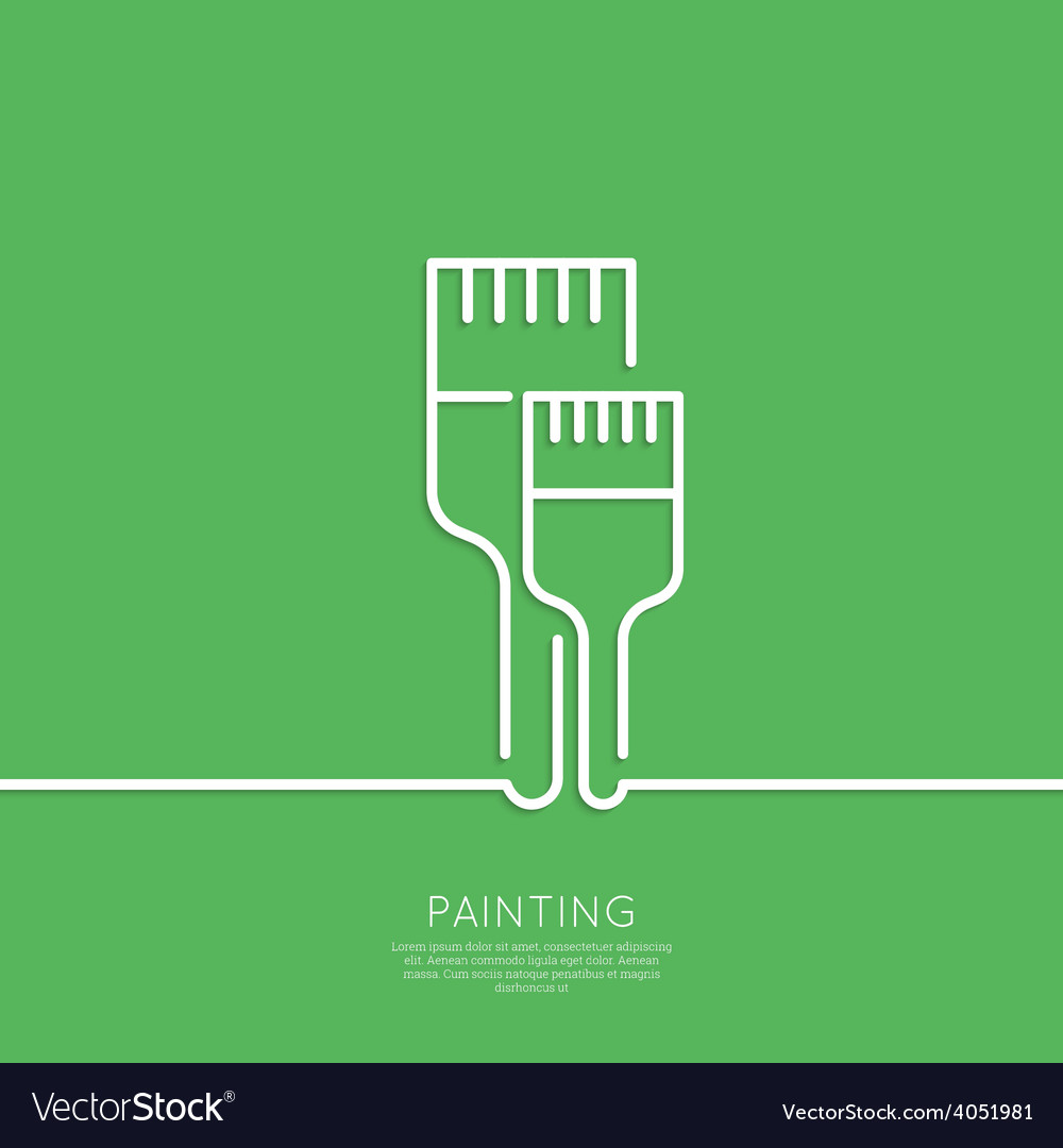 Brush to paint vector | Price: 1 Credit (USD $1)