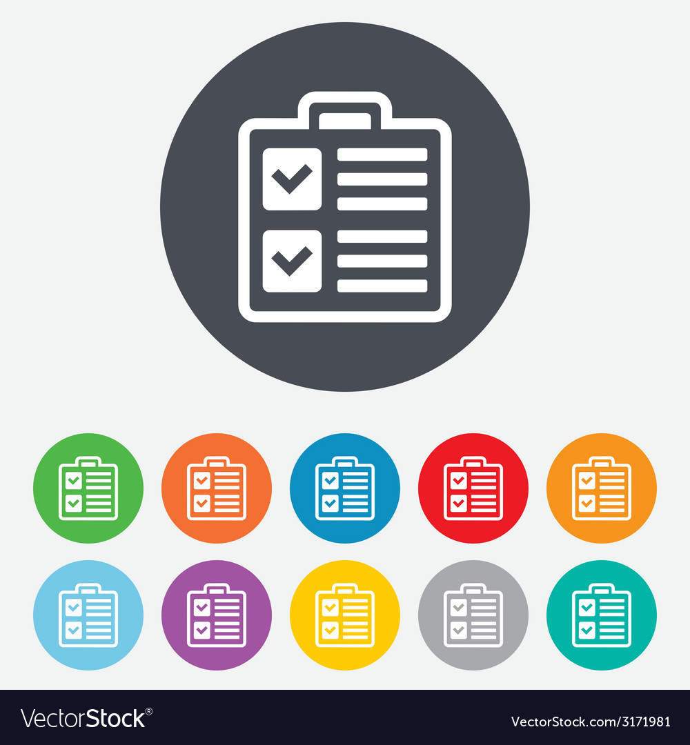 Checklist sign icon control list symbol vector | Price: 1 Credit (USD $1)
