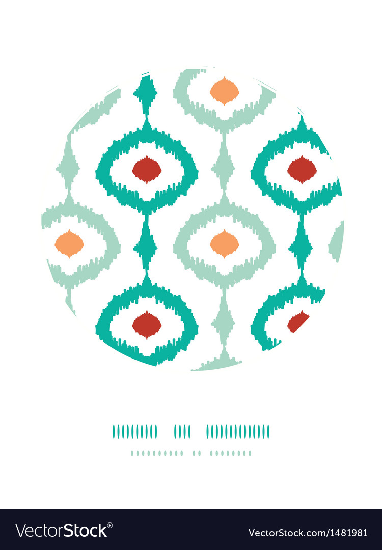 Colorful chain ikat frame circle decor pattern vector   Price: 1 Credit (USD $1)