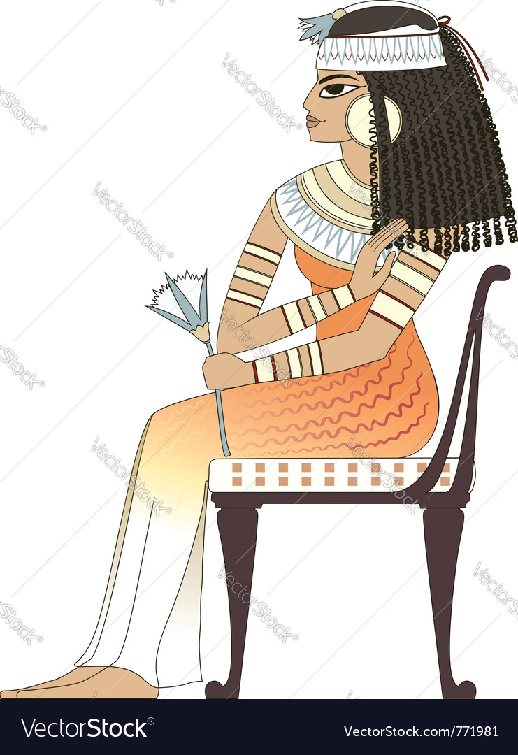 Elegant woman in ancient egypt vector | Price: 3 Credit (USD $3)