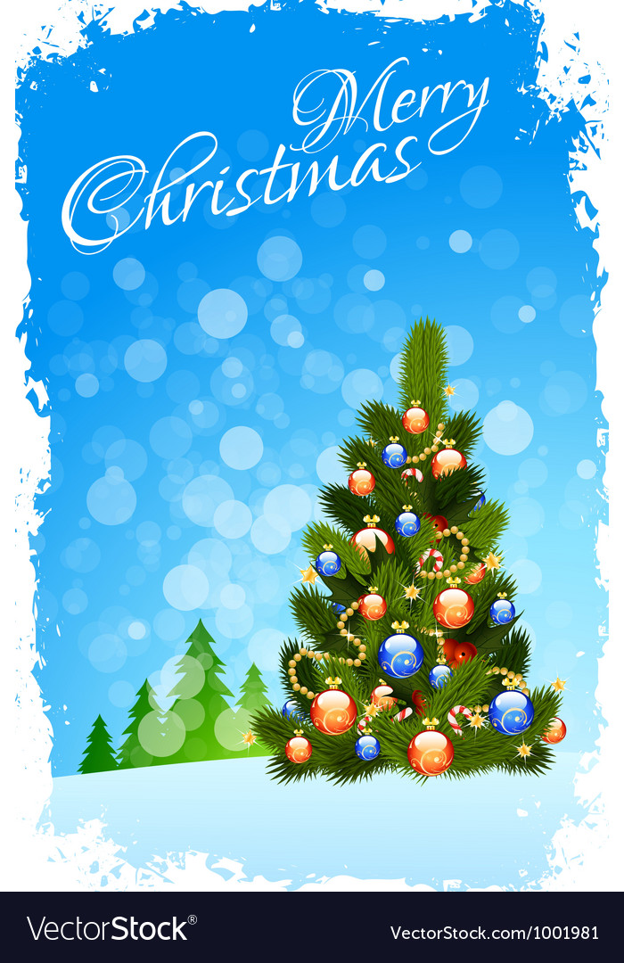 Grungy christmas greeting card vector | Price: 3 Credit (USD $3)