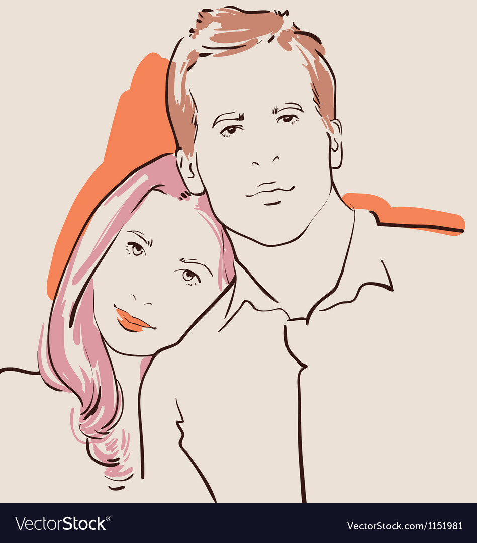 Man and woman in love vector | Price: 1 Credit (USD $1)