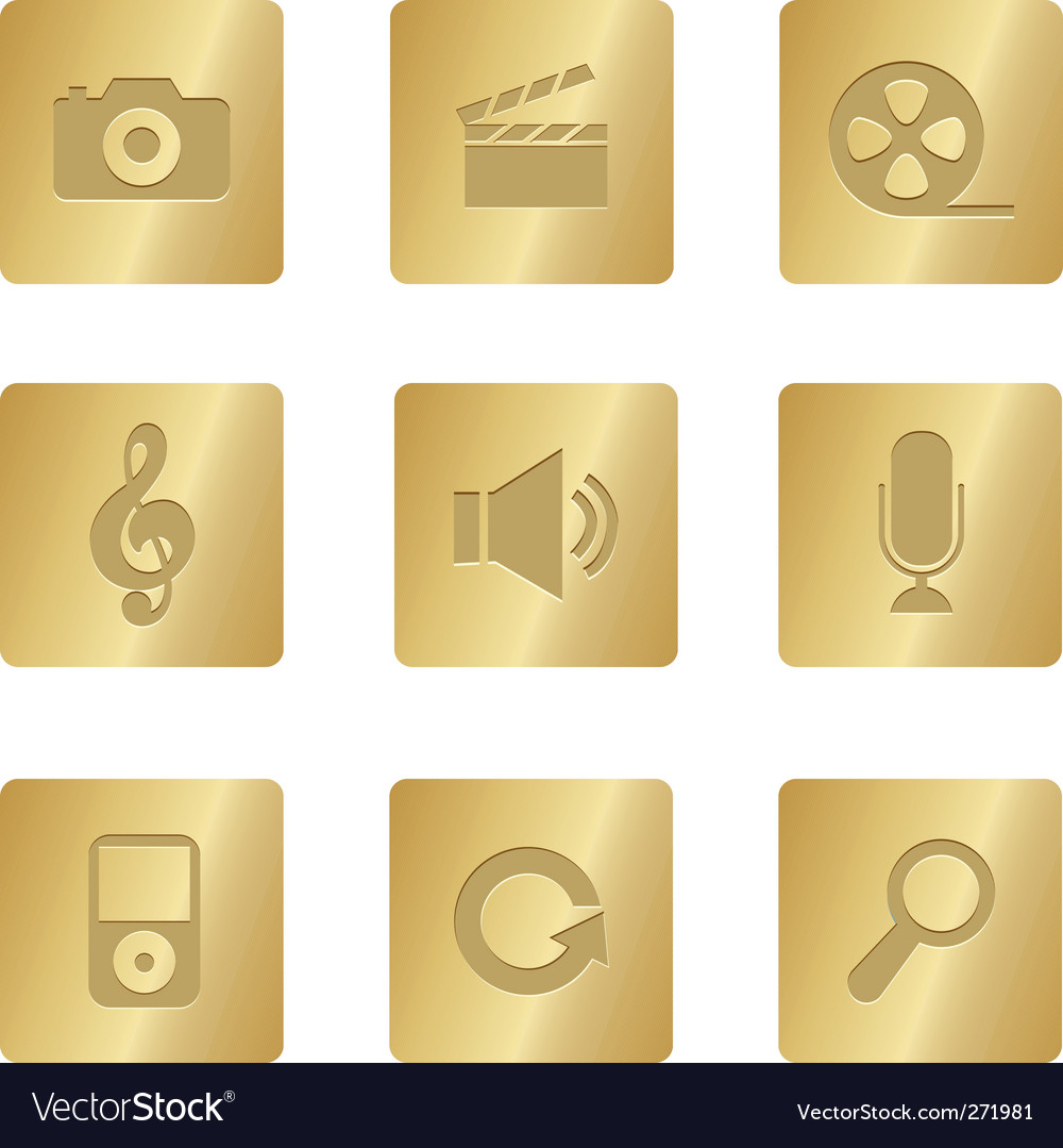Multimedia icons vector   Price: 1 Credit (USD $1)