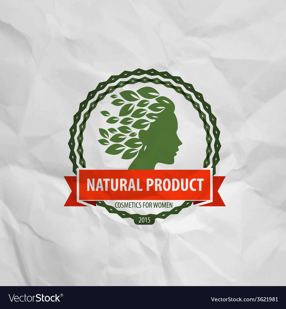Natural product logo icon sign emblem stamp vector | Price: 1 Credit (USD $1)