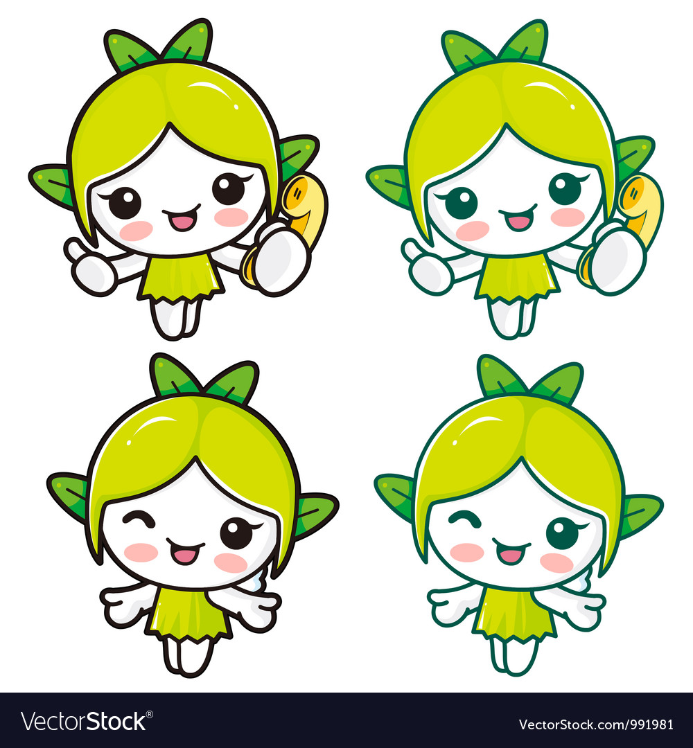 Nature fairy character vector | Price: 3 Credit (USD $3)
