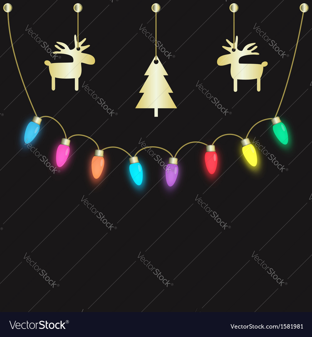 Party light bulbs vector | Price: 1 Credit (USD $1)