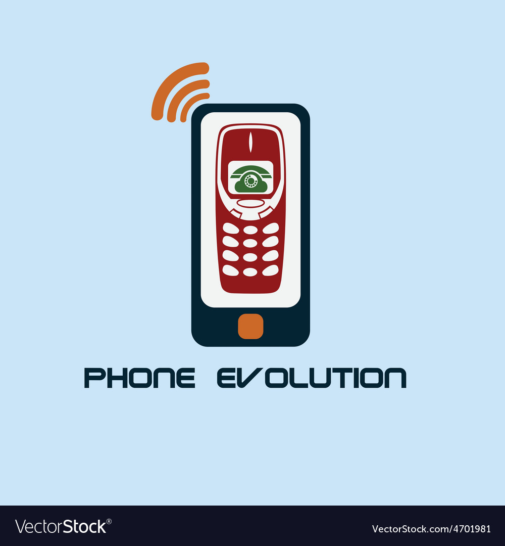 Phone evolution flat design vector | Price: 1 Credit (USD $1)