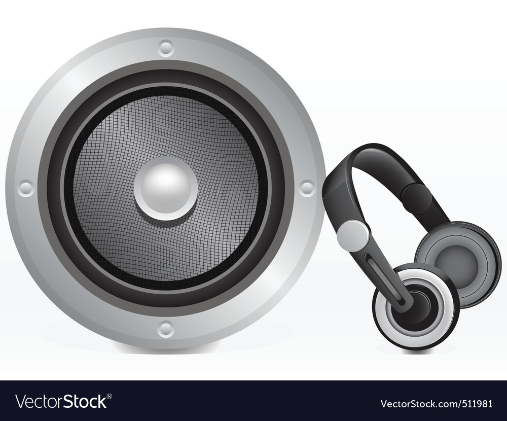 Speaker and headphones vector | Price: 1 Credit (USD $1)