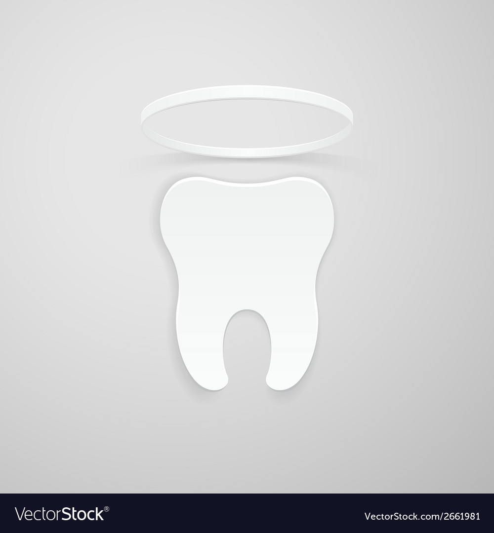 Tooth with a nimbus vector | Price: 1 Credit (USD $1)
