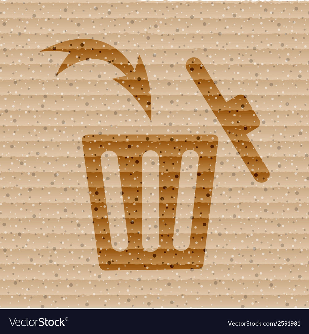Trash bin flat modern web button and space for vector | Price: 1 Credit (USD $1)