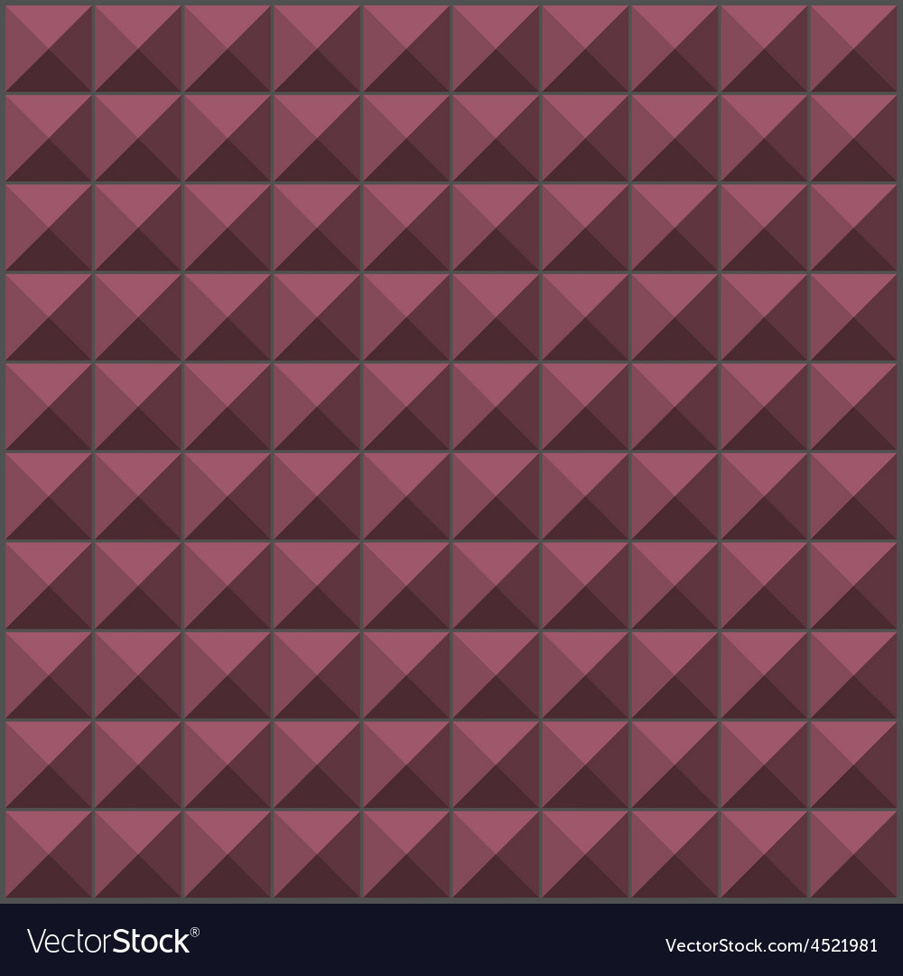 Wall with pink purple pyramid tiles pattern vector | Price: 1 Credit (USD $1)