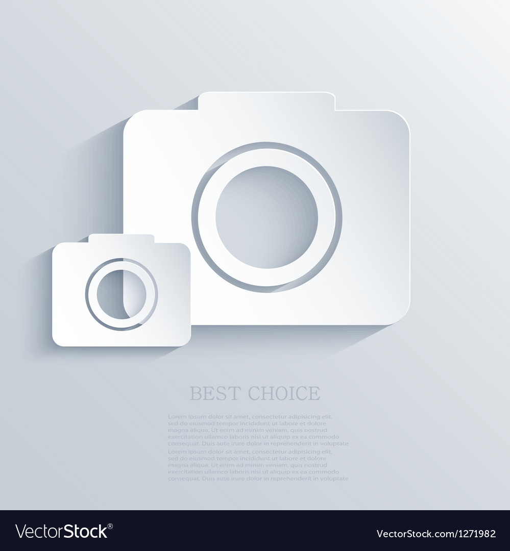 Camera icon background eps10 vector | Price: 1 Credit (USD $1)