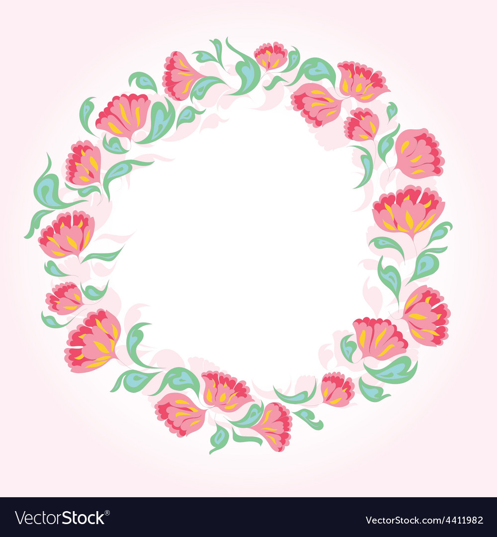 Circle of flowers vector | Price: 1 Credit (USD $1)