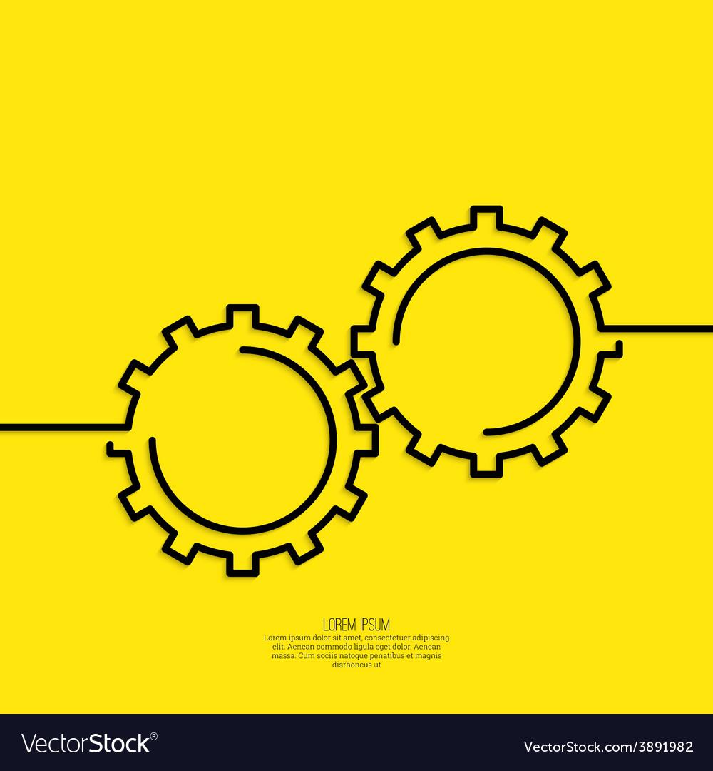 Gears symbol vector | Price: 1 Credit (USD $1)