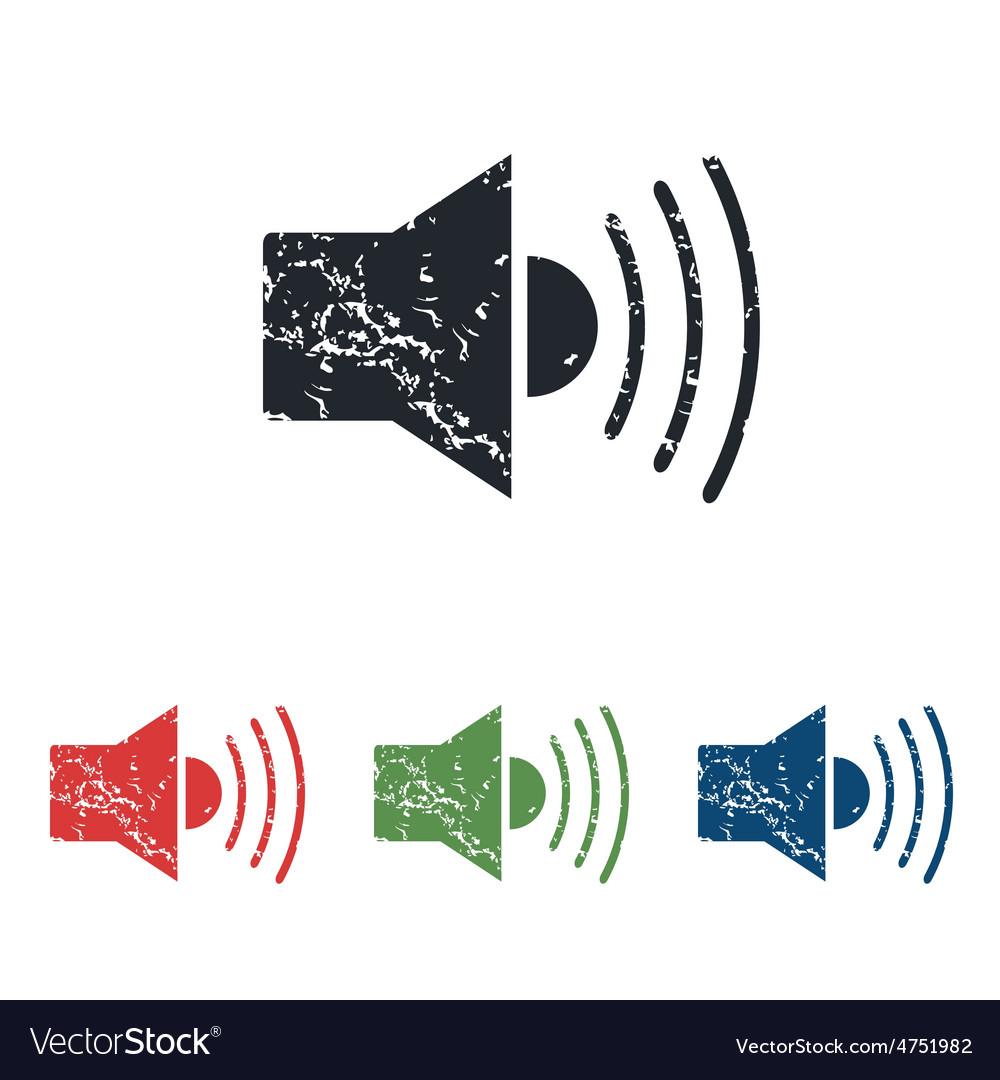 Loudspeaker grunge icon set vector | Price: 1 Credit (USD $1)