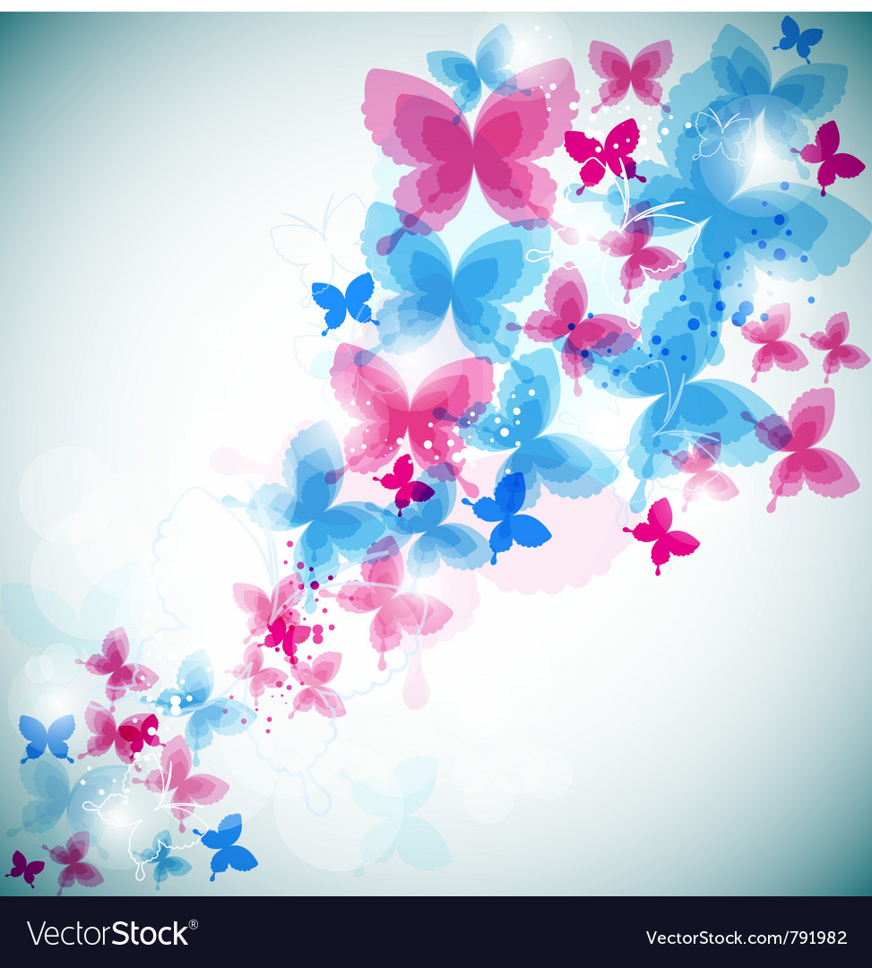 Modern butterflies background vector | Price: 1 Credit (USD $1)