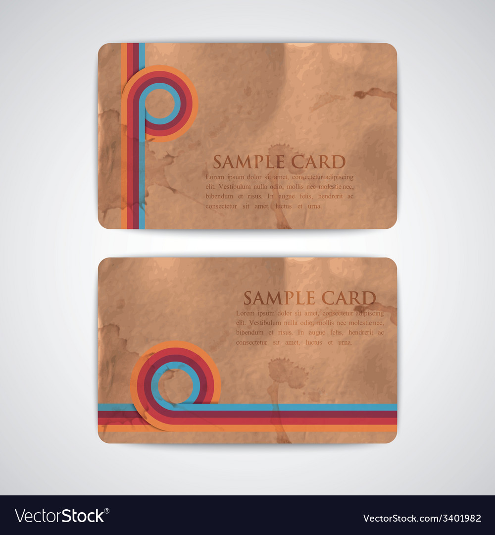Vintage cards with grunge cardboard texture vector | Price: 1 Credit (USD $1)