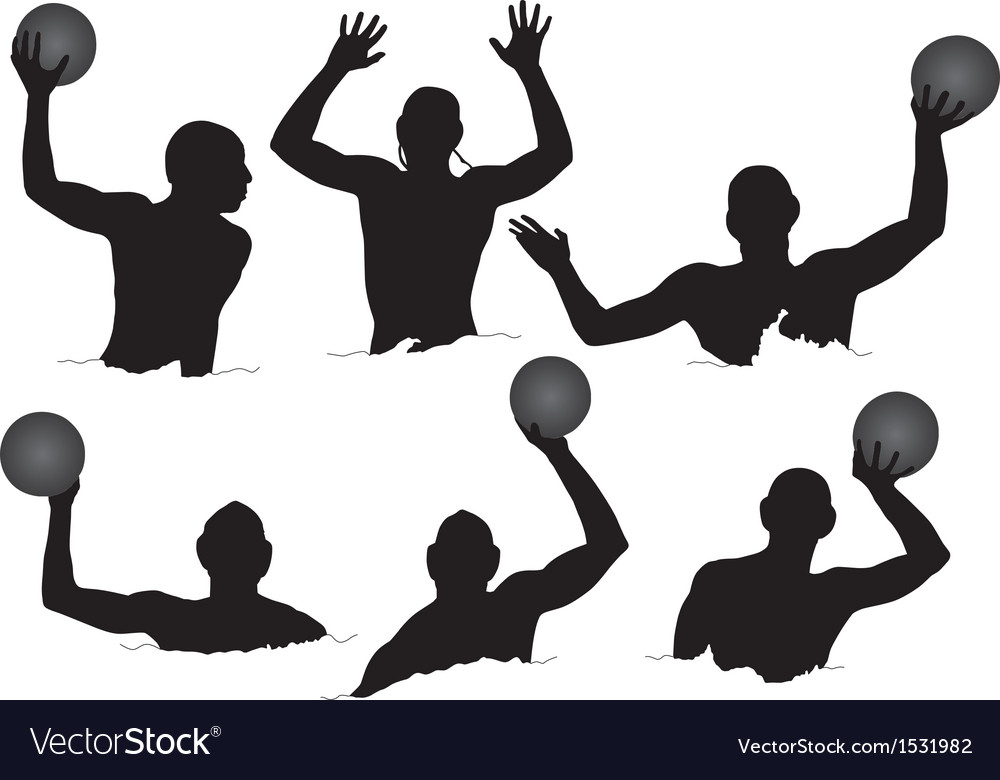 Water polo silhouette vector | Price: 1 Credit (USD $1)