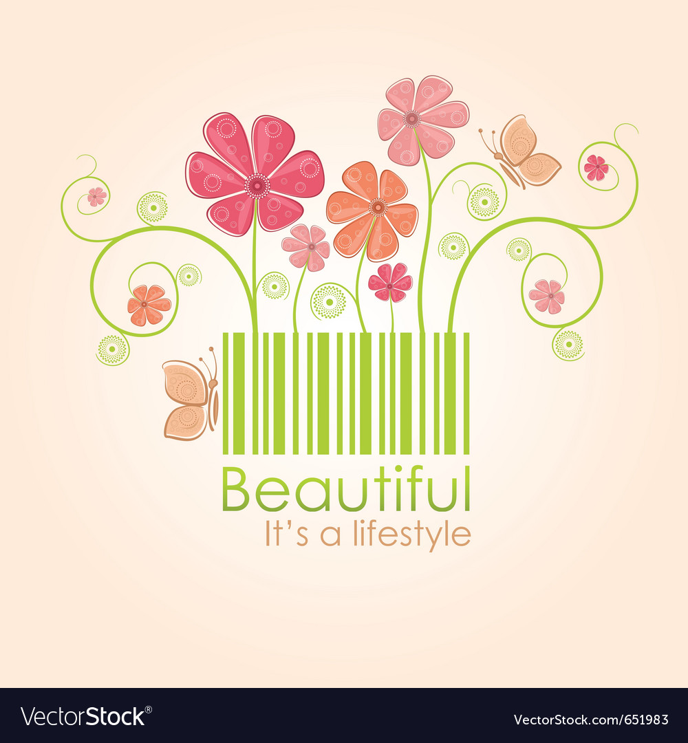 Beautiful nature style vector | Price: 1 Credit (USD $1)