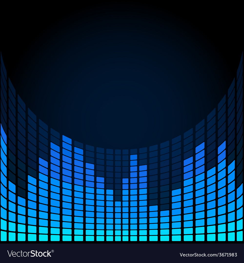Blue digital equalizer vector | Price: 1 Credit (USD $1)