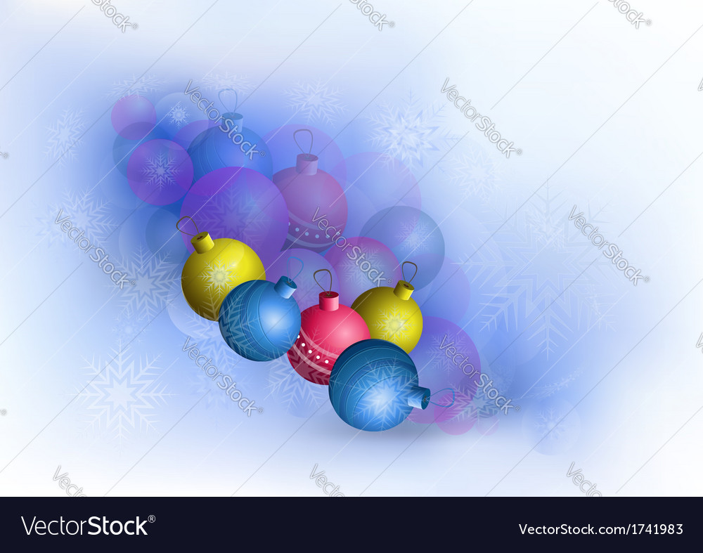 Bright christmas balls and snowflakes vector | Price: 1 Credit (USD $1)