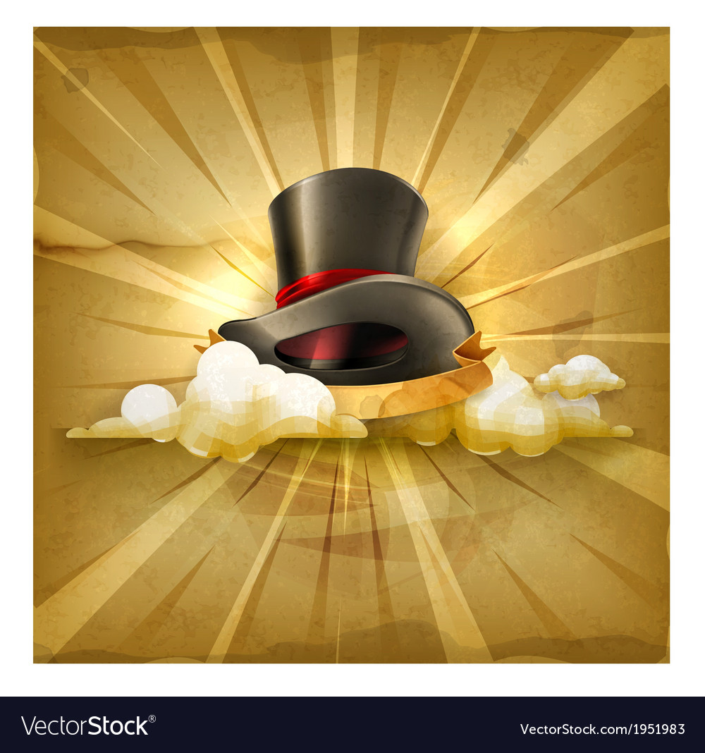 Cylinder hat old style background vector   Price: 3 Credit (USD $3)