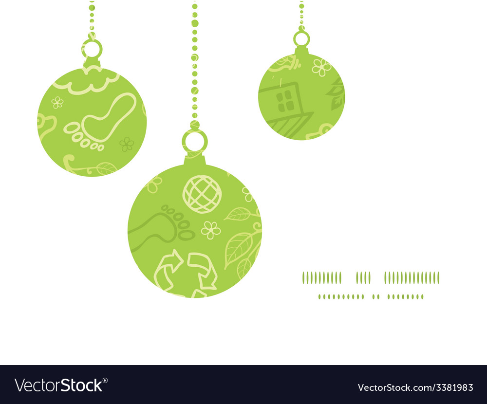 Environmental christmas ornaments silhouettes vector | Price: 1 Credit (USD $1)