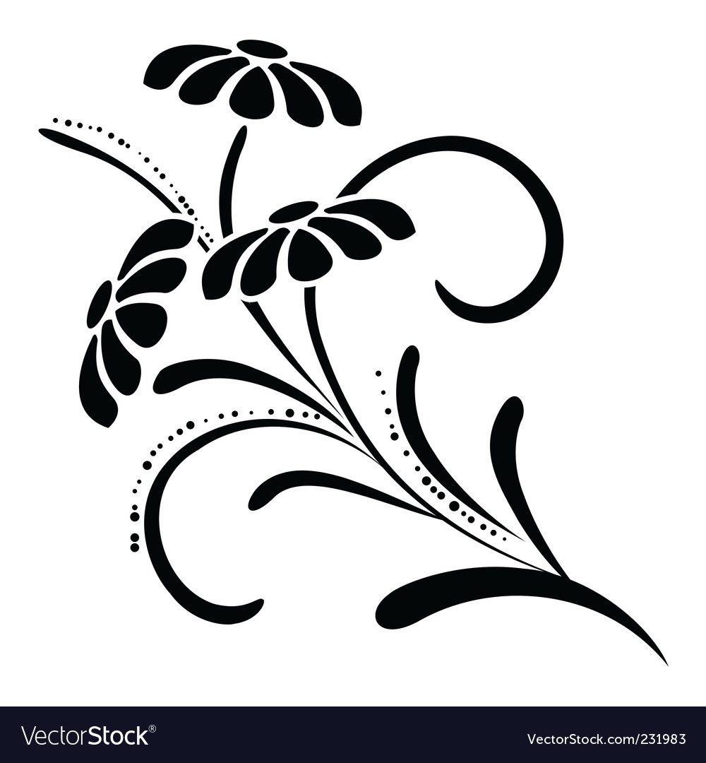 Floral design element vector | Price: 1 Credit (USD $1)