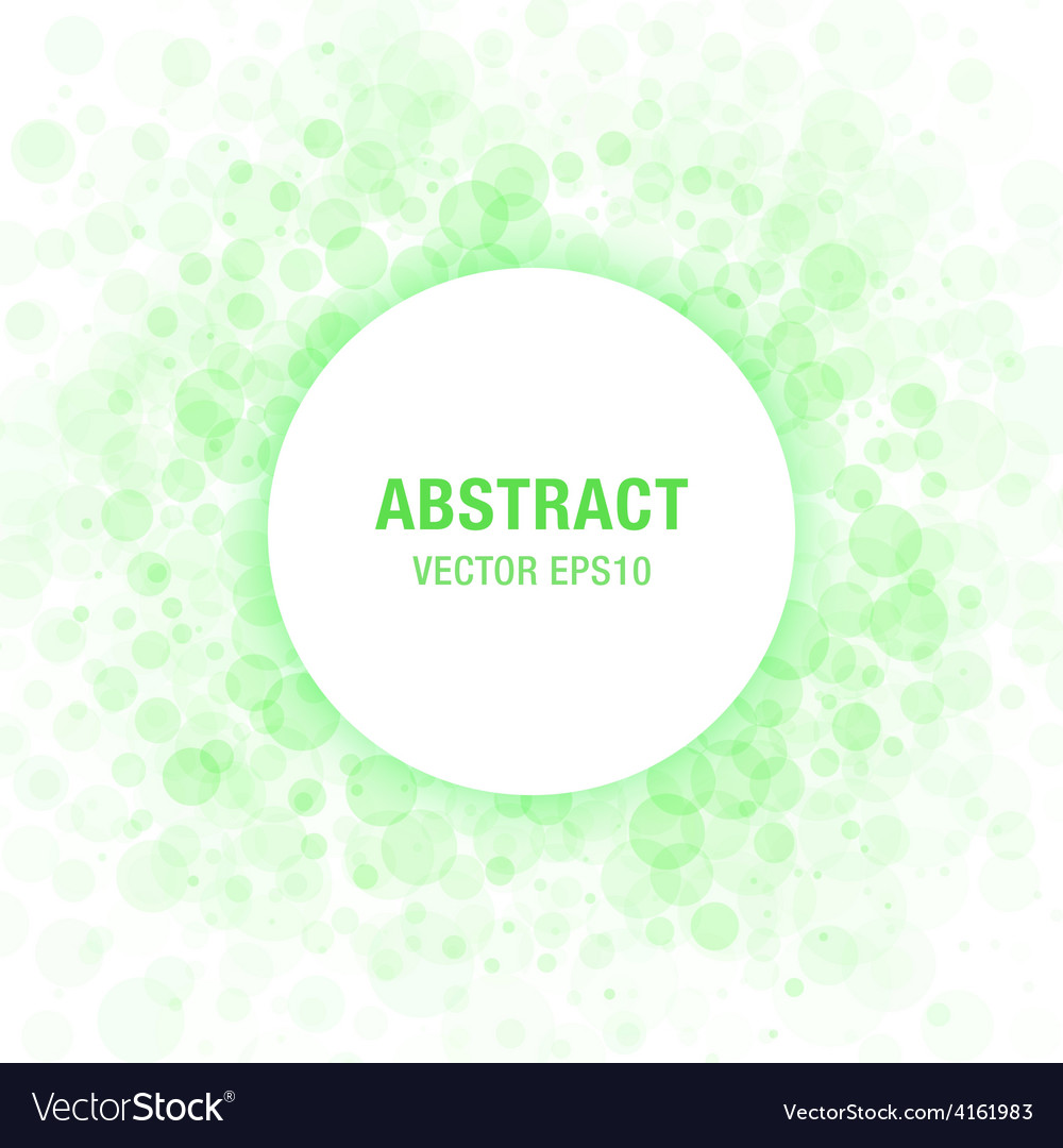 Green abstract circle frame vector | Price: 1 Credit (USD $1)