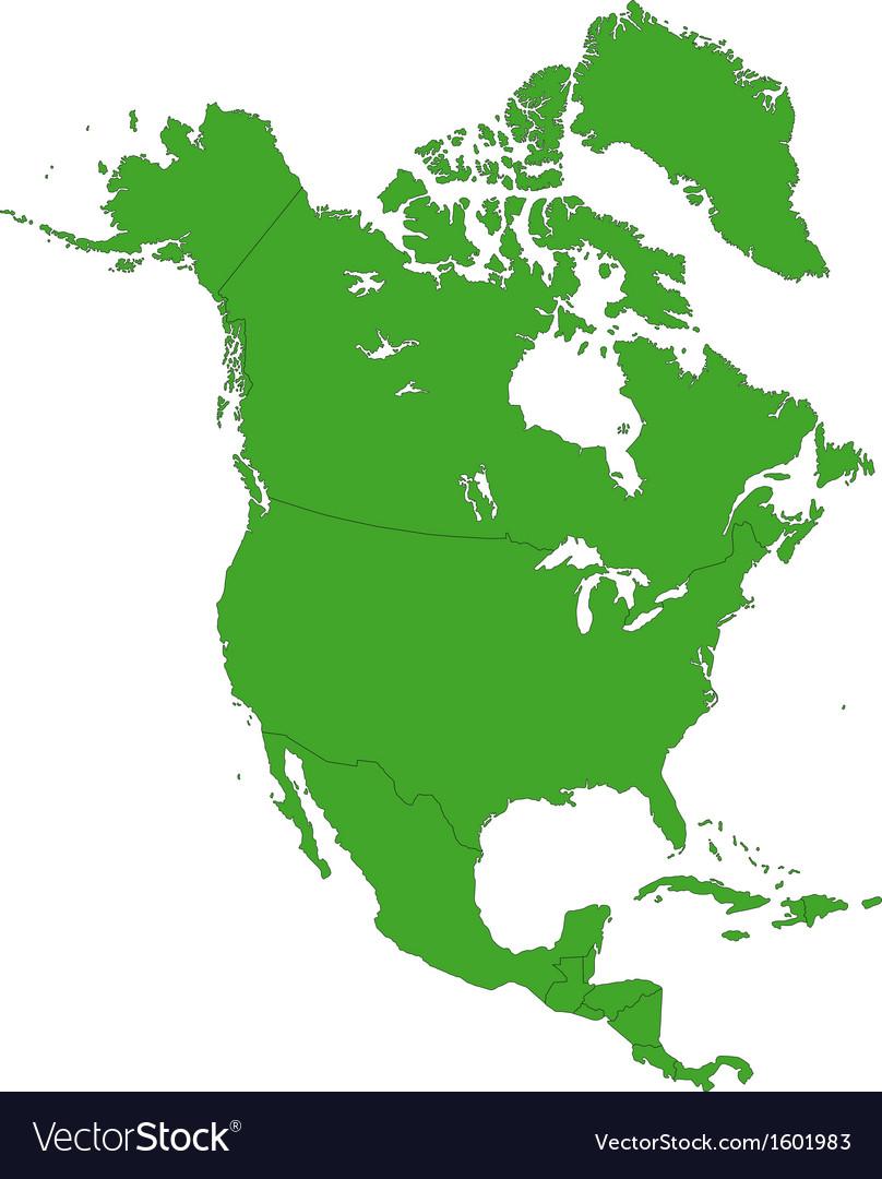 Green north america map vector   Price: 1 Credit (USD $1)