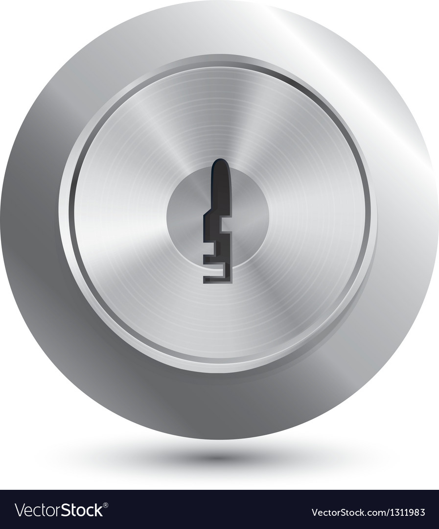 Keyhole in round lock vector | Price: 1 Credit (USD $1)